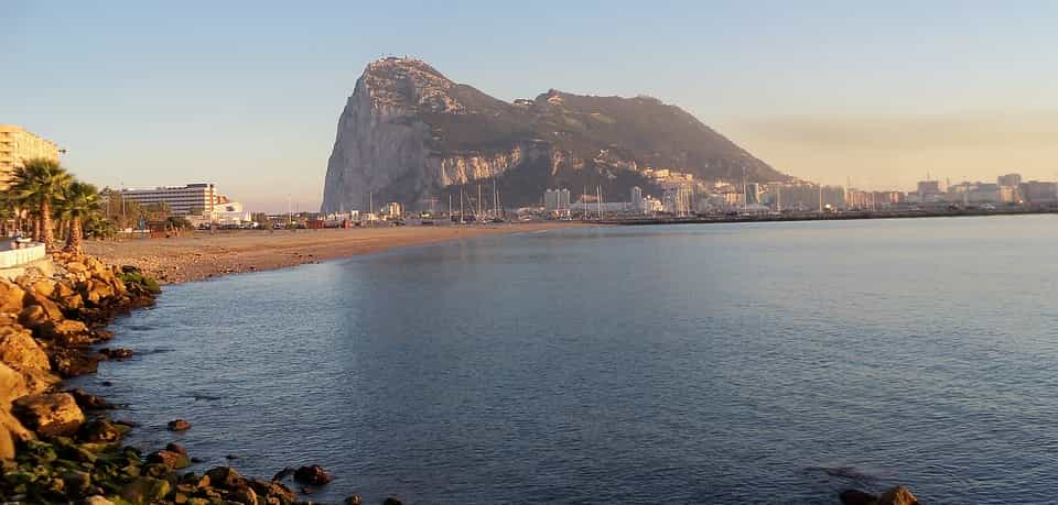 Gibraltar overview from coast