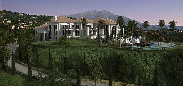 Vladimir Putin built a big mansion in Marbella