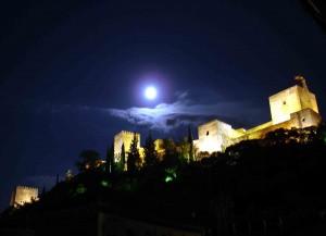 Alhambra Granada by night