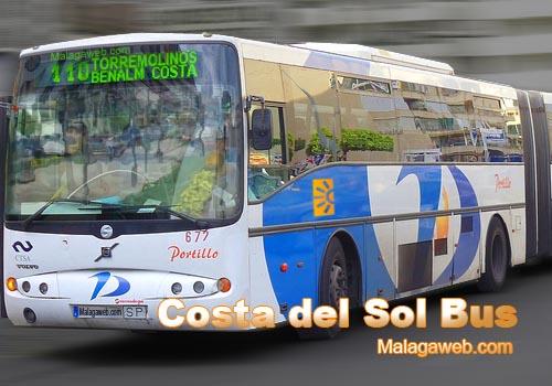 Bus 110 from Malaga to Benalmadena