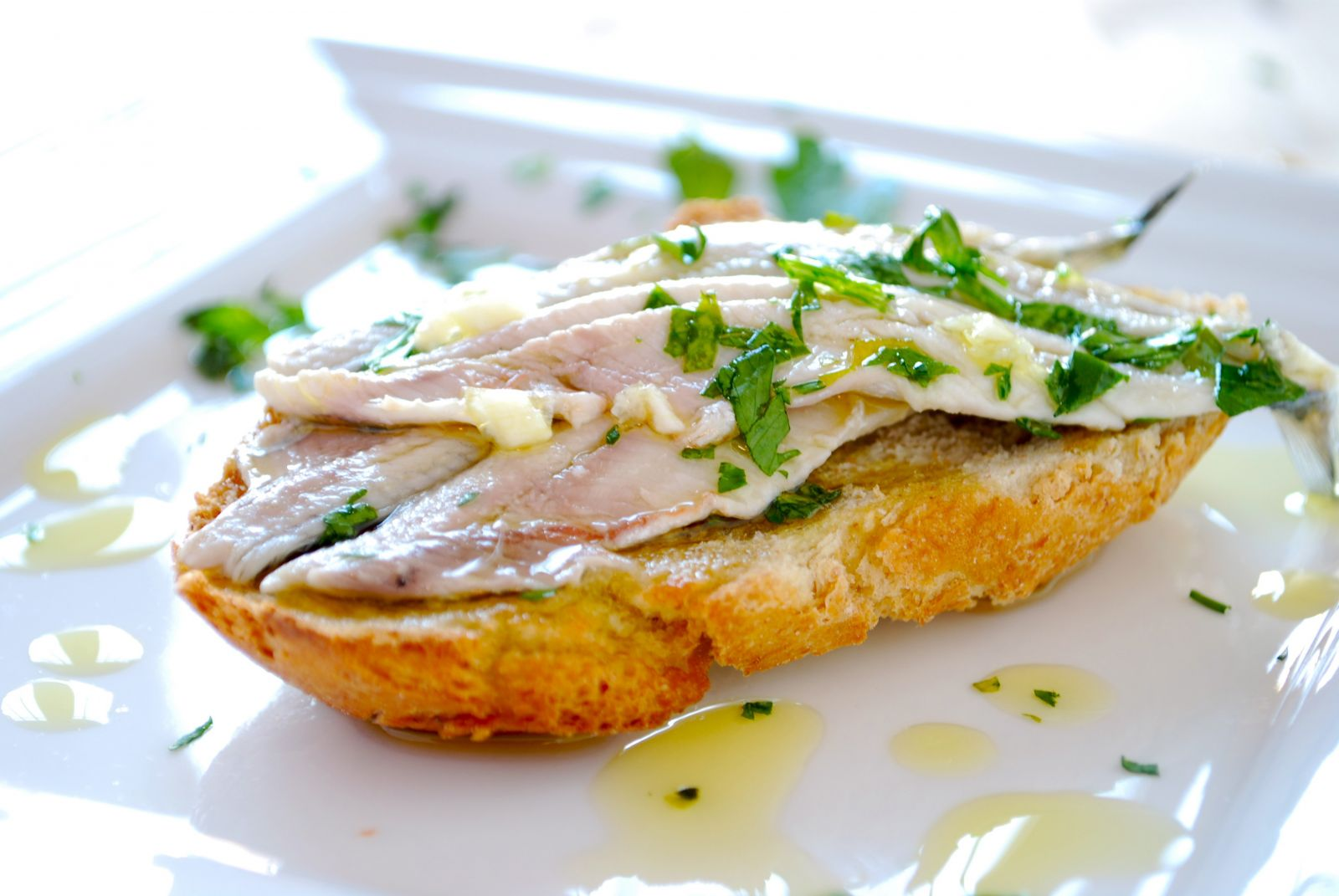 Spanish anchovies tapa