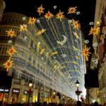 Lighting of past Christmas in Malaga