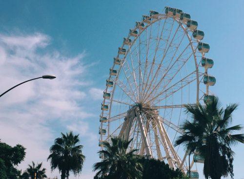 Romantic ferris wheel in Malaga