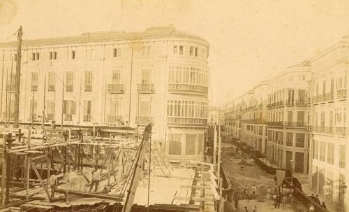 Calle Larios in 1890
