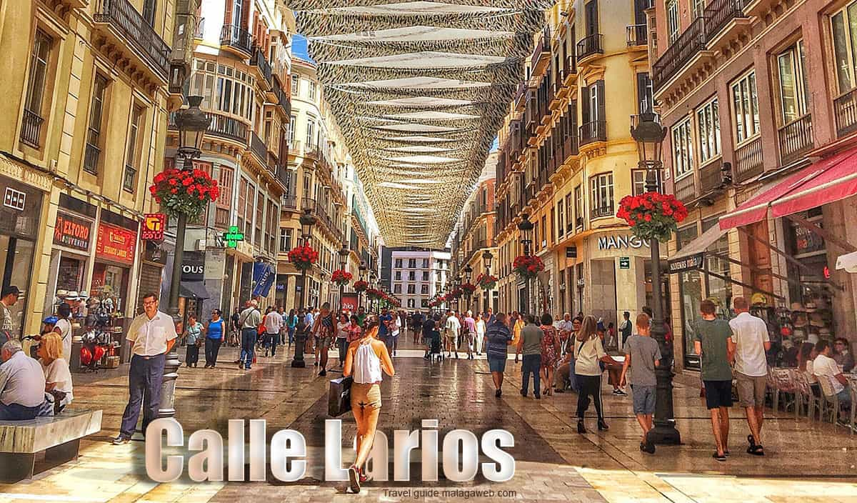 Calle Larios and shopping guide in Malaga