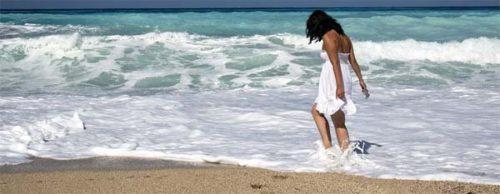 Strolling the sea shore