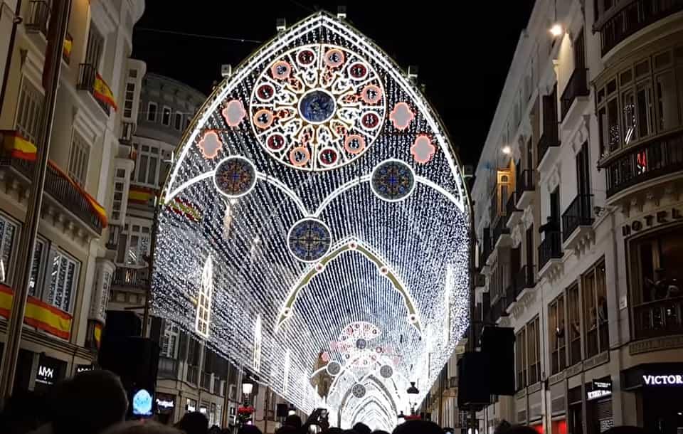 Christmas lighting in Malaga 2018