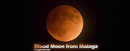 Blood Moon from Malaga