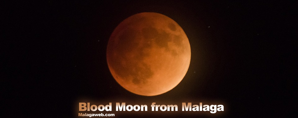 Blood Moon from Malaga