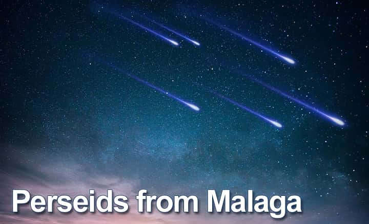 Perseids from Malaga