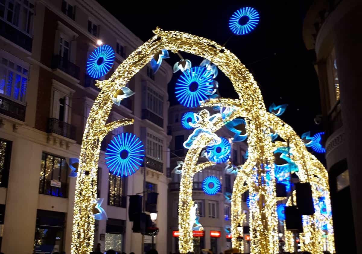 Malaga christmas lights in 2020
