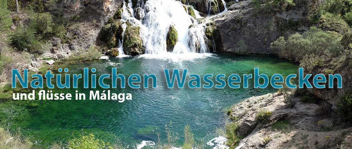 Naturlichen wasserbecken und Málaga