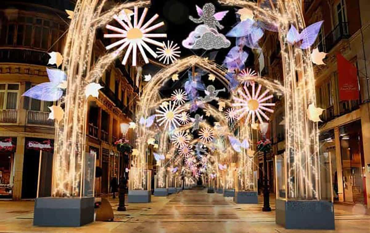 Weihnachtsbeleuchtung in Málaga 2019-2020