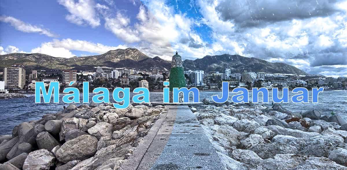 Malaga im Januar