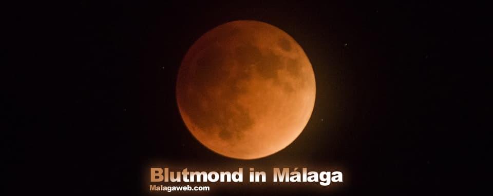 Blutmond in Málaga