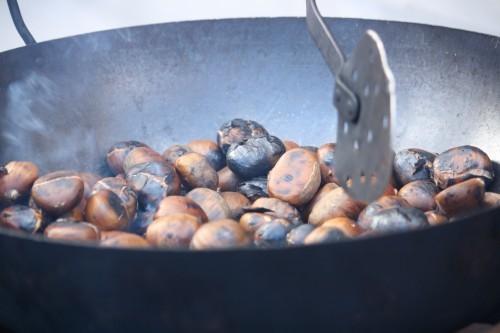 Geröstete Kastanien in Málaga