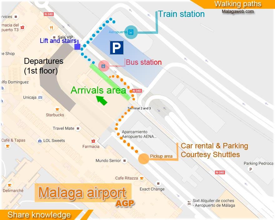 Ankunftsterminal karte