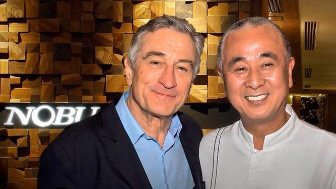 Robert de Niro und Nobu Matsuhisa-marbella