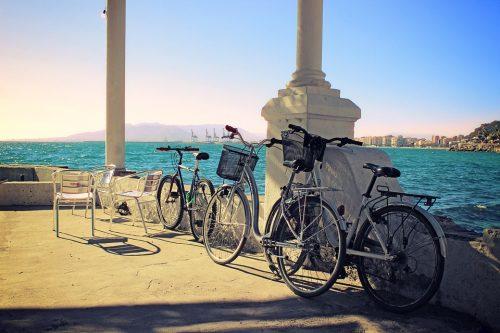 Malaga und sea