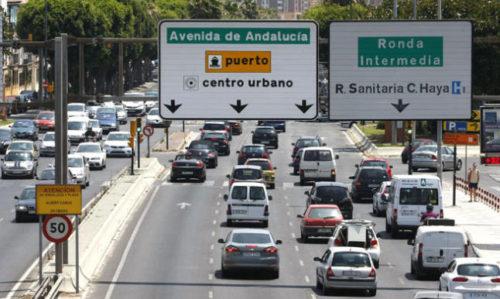 Verkehrssituation in Málaga in Echtzeit