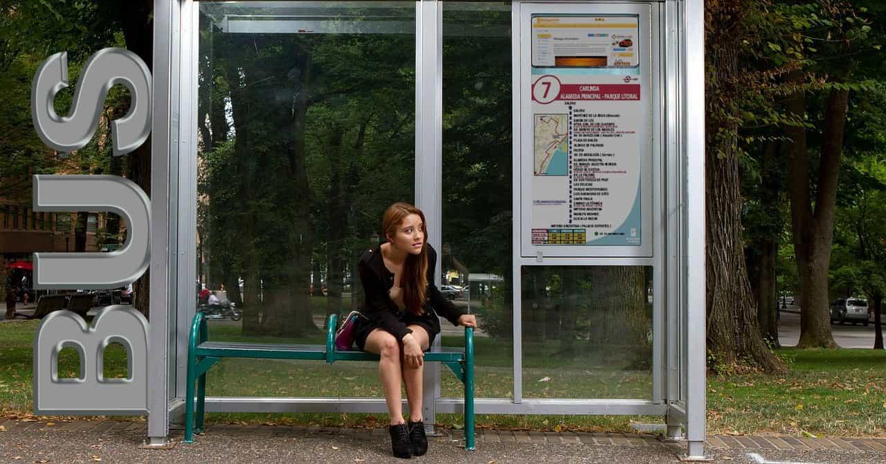 Esperando autobús
