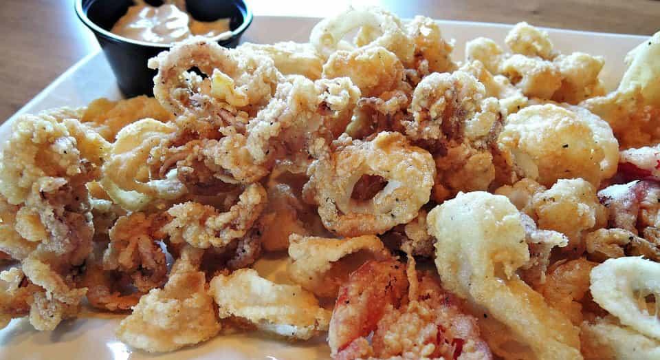 Calamares fritos en Fuengirola