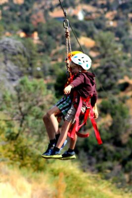 Zip lines and children