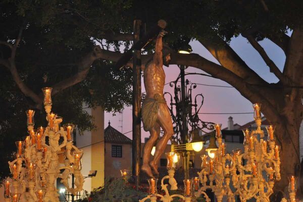Throne during the Holy Week in Malaga