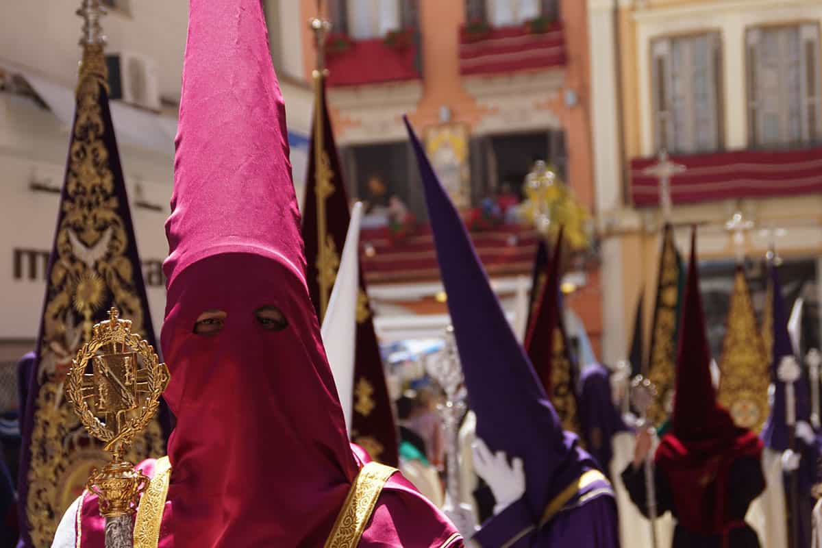 Nazarenes during the Holy Week