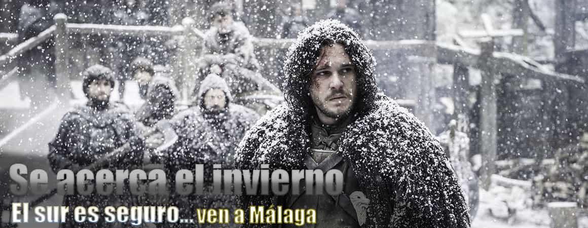 se acerca el invierno, ven a Málaga