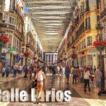 Calle Larios y guía de tiendas en Málaga