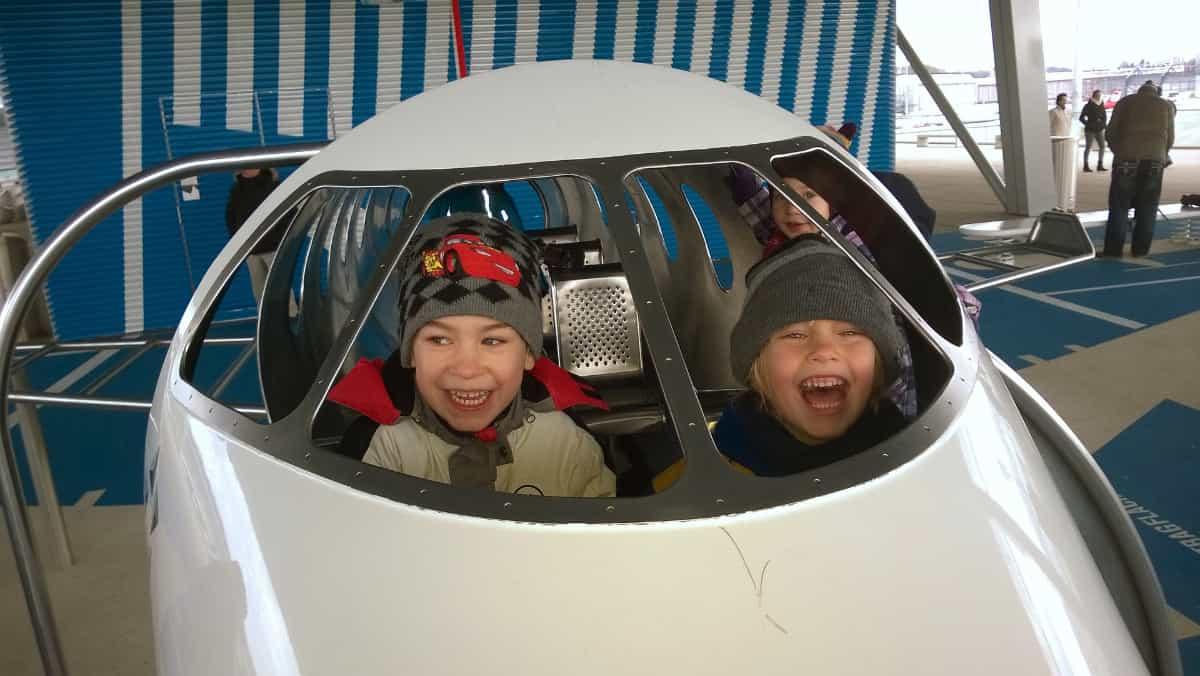 Children flying