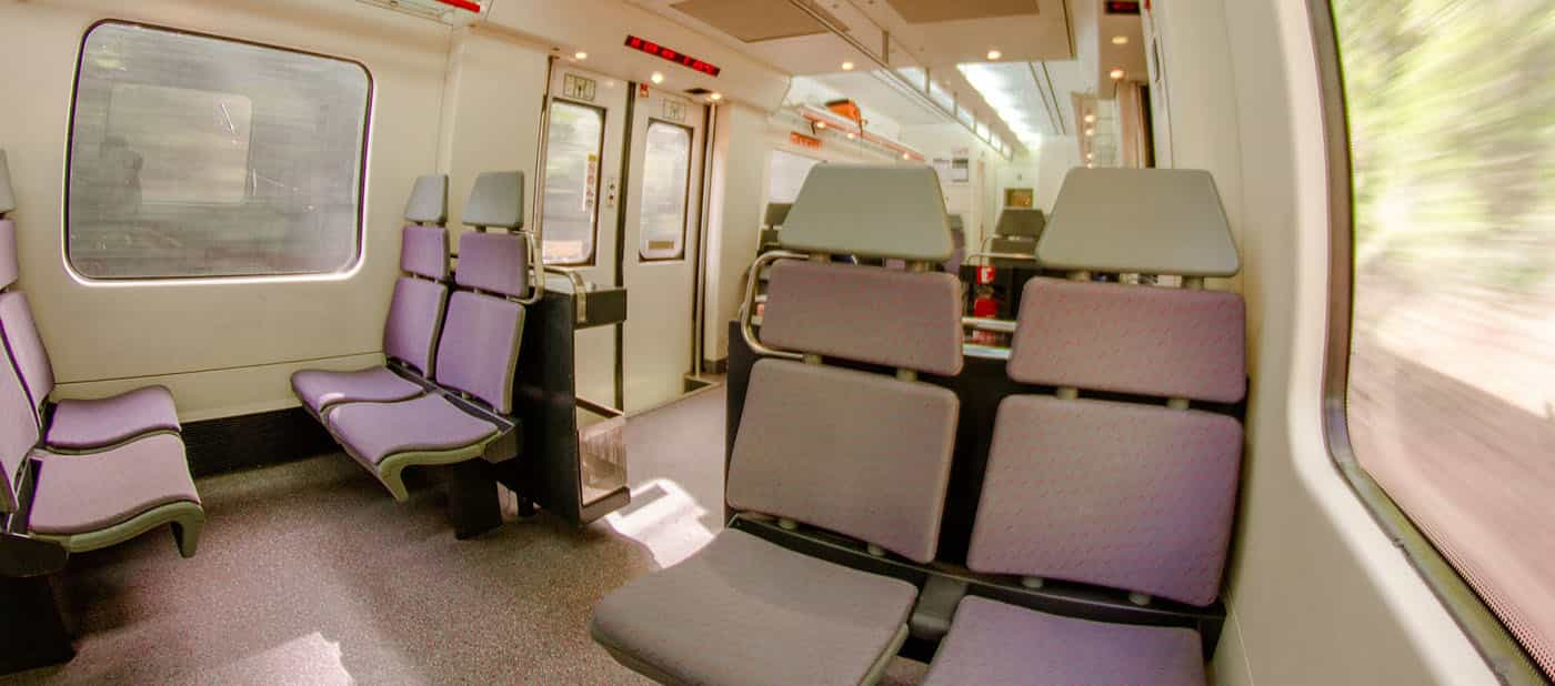 Interior of suburban train