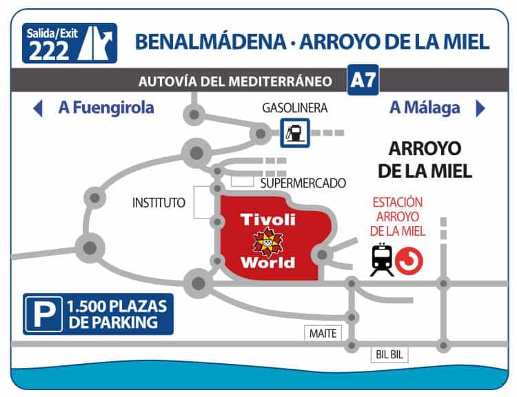 Tivoli World karte