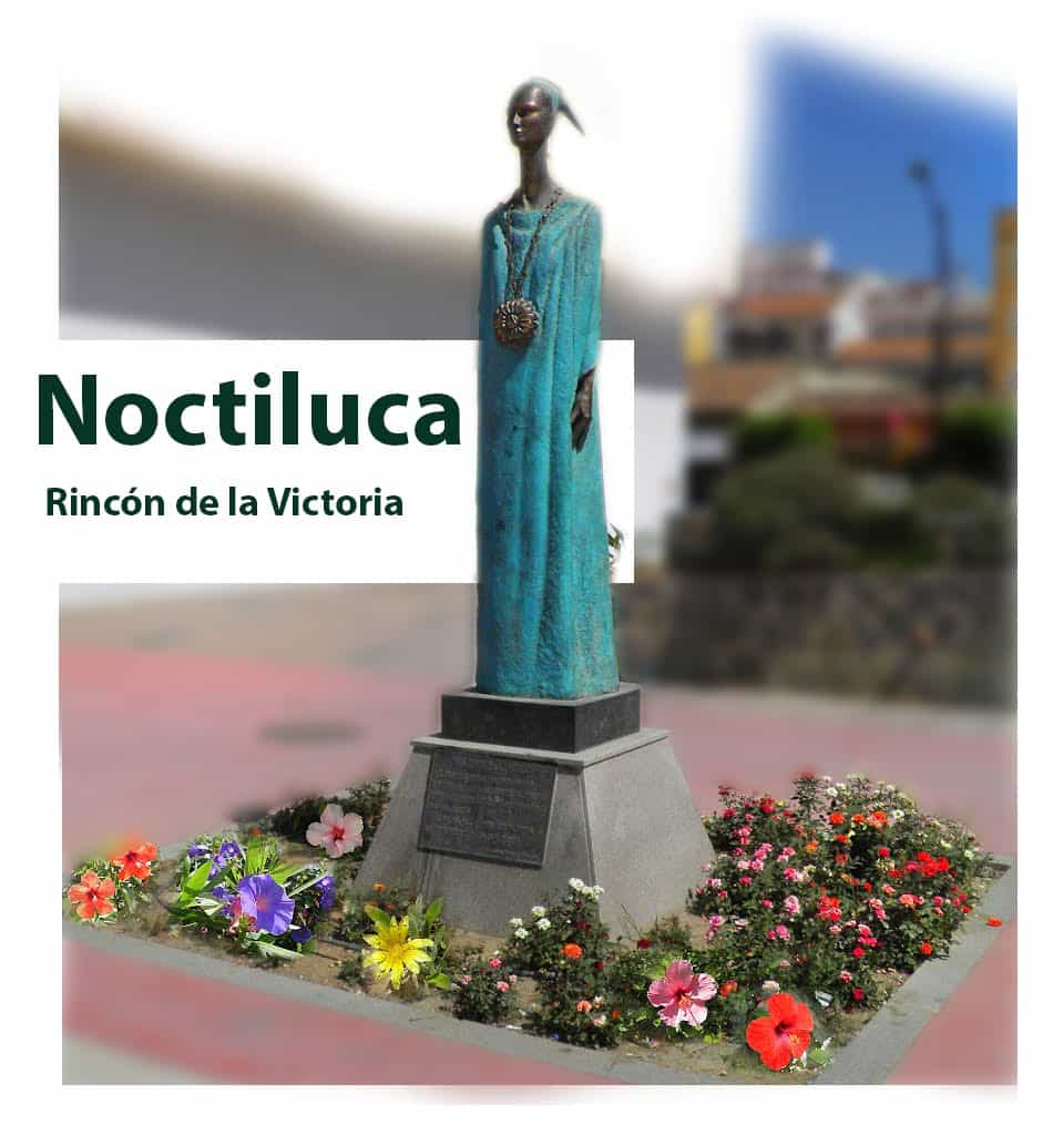 Statue of Noctiluca or Malac in Málaga