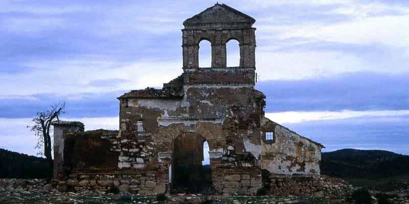 Abandoned church in Peñarrubia