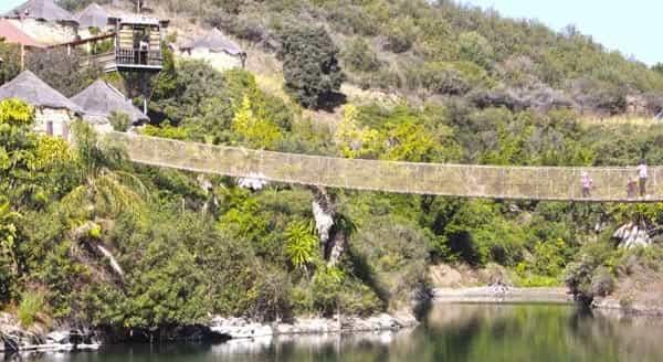 Puente colgante en Estepona