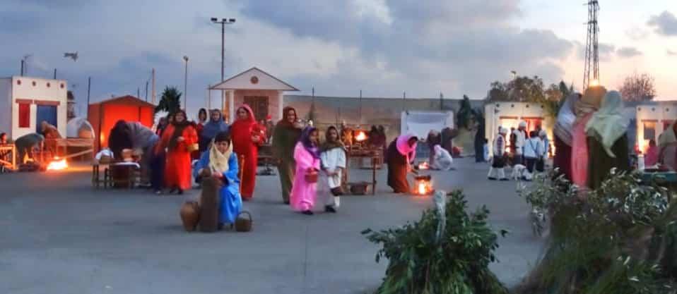 Living Nativity Scene in Almayate