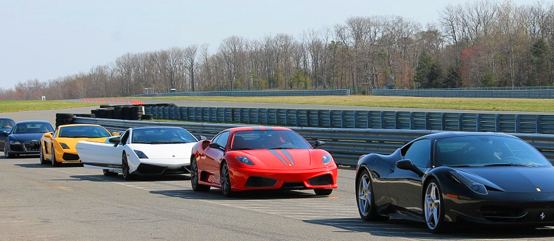 Supercars on the track