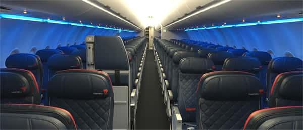 Distribución de asientos en Delta Airlines