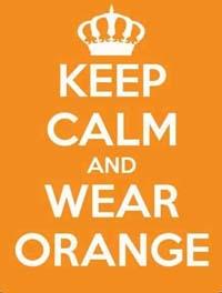 Hay que vestir de naranja ese día