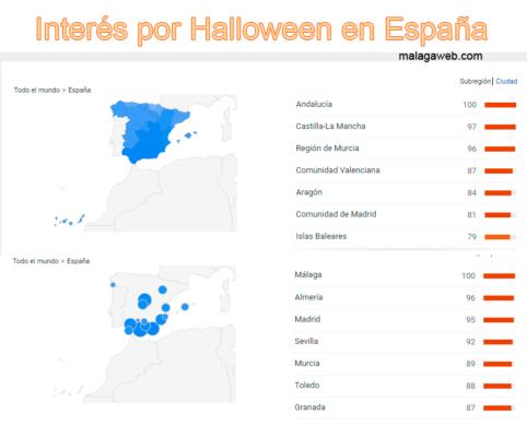 Halloween-Interesse-geografisch