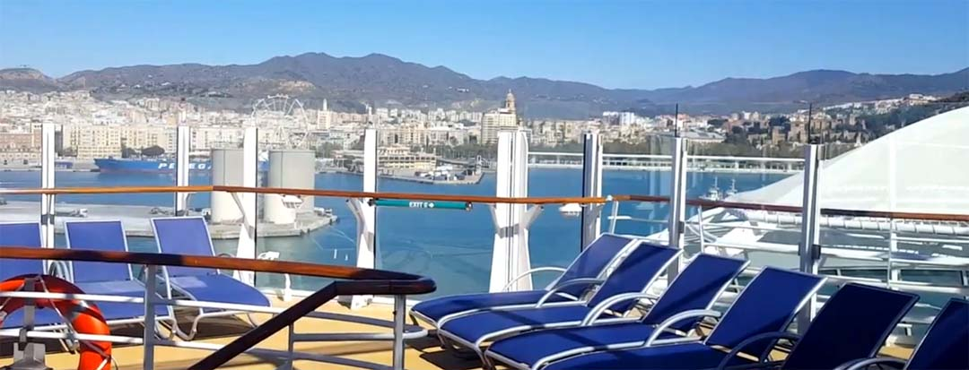Vistas de Málaga desde el crucero Symphony