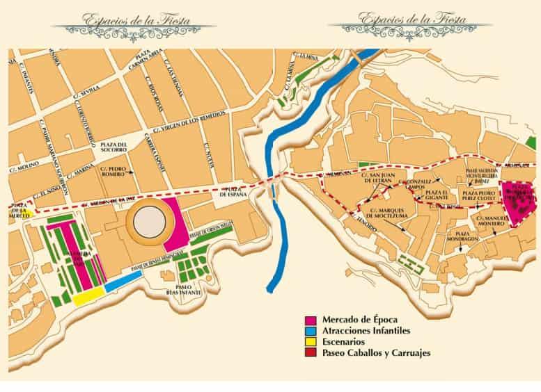 Mapa actividades Ronda Romántica