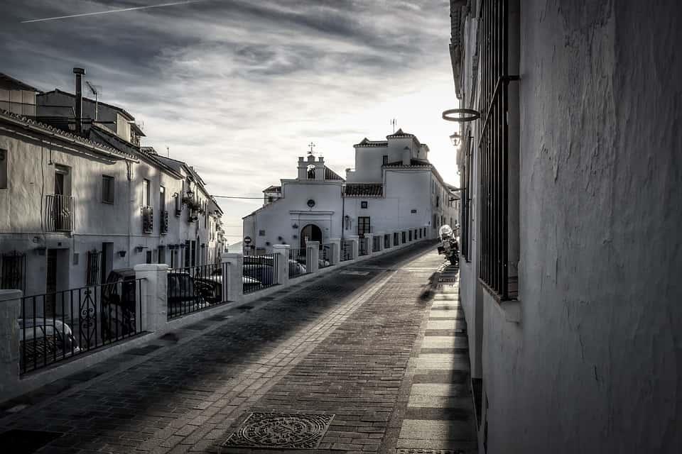 Straßen von Mijas Stadt