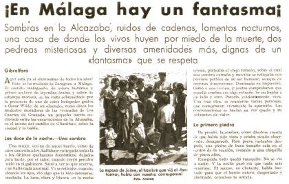 newspaper about ghost in Malaga