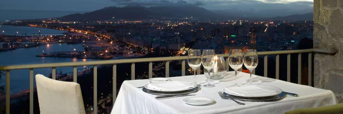 Views from restaurant Parador de Gibralfaro