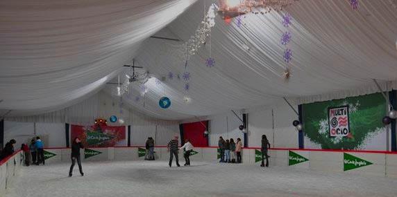 patinaje sobre hielo en el Corte Inglés