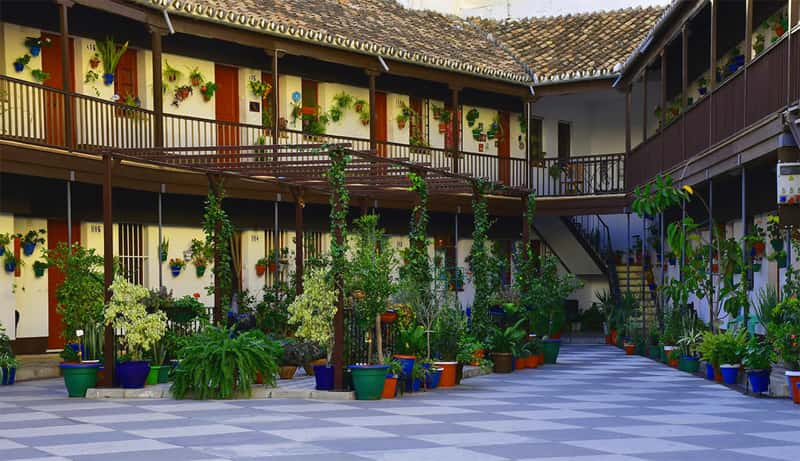 Traditional corralon courtyard