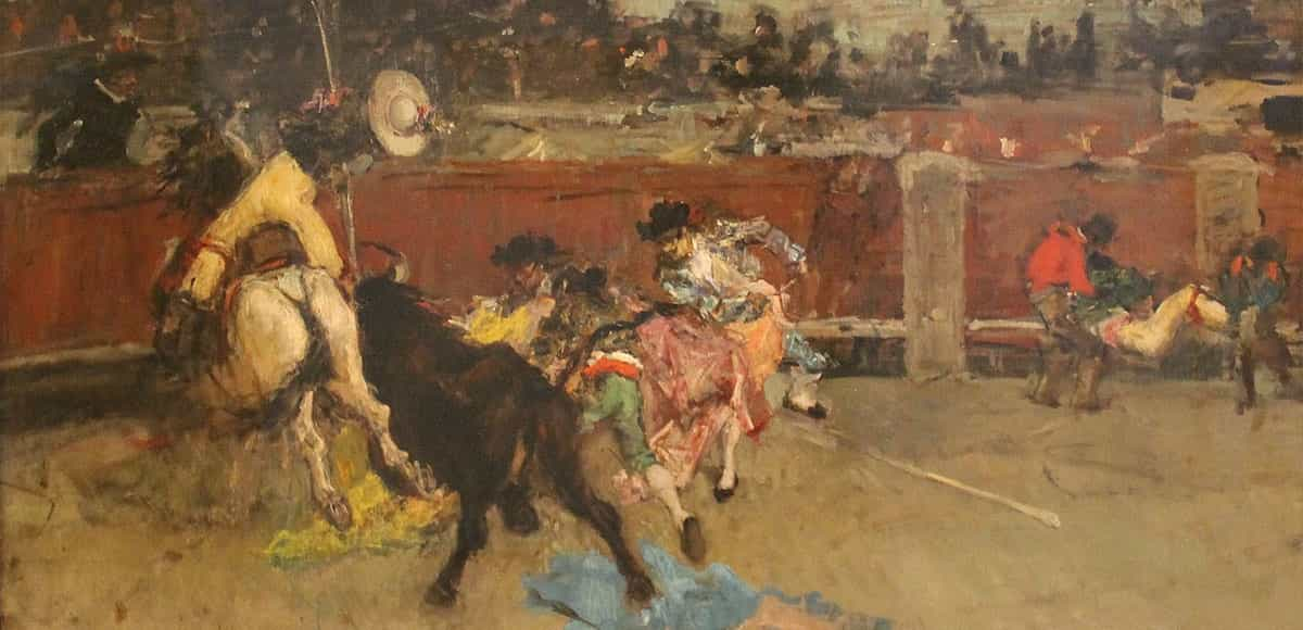Painting Wounded Picador of the collection Carmen Tyssen